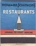 Howard Johnson Motor Lodge Restaurant F S Matches