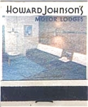 Howard Johnson Motor Lodges Front Strike Matches