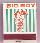 Big Boy Advertising Matchbook W/matches