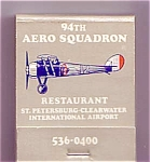 94th Aero Squadron Restaurant St. Petesburg Fla Matches