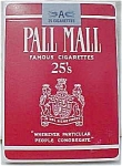 Tobacciana Tobacco Advertising Pall Mall Playing Cards