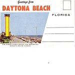 Daytona Beach Florida Postcard Folder