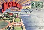 Jacksonville Souvenir Postcard Folder