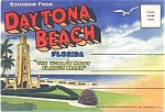 Daytona Beach Souvenir Postcard Folder