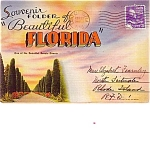 Florida Souvenir Postcard Folder