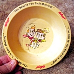 Vintage Kellogs Rice Krispies Plastic Bowl