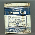 Vintage Puretest Epsom Salt Tin