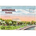 Jacksonville Florida Souvenir Postcard Folder