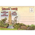 Sing Tower Florida Souvenir Postcard Folder