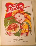 My Best Meat Recipes - 1945-46