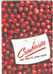 1938 Cranberry Cookbook