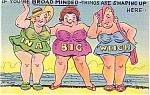 Broad-minded Comic Postcard- Asheville Post Card Co