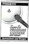 Presto Pressure Cooker Recipe Instruction Book
