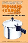 1979 Presto Pressure Cooker Instruction Recipe Book