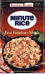 Minute Rice Favorite Recipes Cookbook