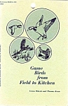 Game Birds From Field To Kitchen Cookbook