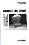 George Foreman's Grilling Machine Manual