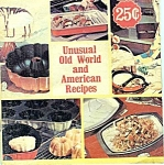 Unusual Old World And American Recipes Cookbooklet