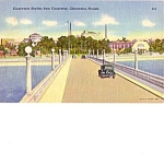 Souvenir Clearwater Florida Fla Linen Post Card