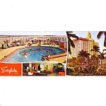 Everglades Hotel Miami Florida Over Size Post Card