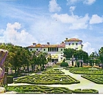 Vizcaya Miami Florida Oversize Post Card