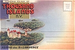 Thousand Islands New York Souvenir Postcard Folder