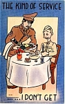 Ww Ii Era Military Comic Postcard