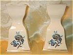 Lenox Pagoda Pattern Porcelain Candlestick Holders