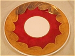 Burgundy And Gold Bavarian Handpainted Plate