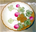 Handpainted Bavarian Four Leaft Clover Plate