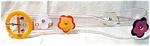 Vintage Child's Clear Vinyl Flowered Belt