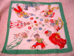 Adorable Child's Antique Handkerchief - Professions