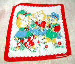 Three Pigs Antique Cotton Child's Handkerchief