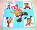 Vintage Japanese Robot Child's Handkerchief