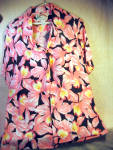 Paradise Found Pink And Black Floral Orchid Shirt