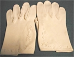 Hand Decorated White Cotton Gloves