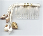 White Rope & Shell Hair Comb