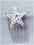 Tiny Rhinestone Star Hair Comb