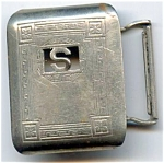 Initial S Vintage Silver Buckle