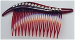 Faux Tortoise Shell Rhinestone Hair Comb