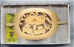 Mint Carved Wood Morning Glory Ponytail Holder