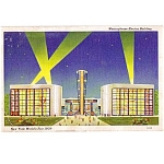 1939 New York Worlds Fair Westinghouse Electric Postcard