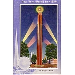 1939 New York Worlds Fair Star Pylon Postcard