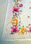 Lovely Mint Never Used Printed Cotton Floral Hankie