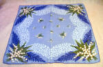 Huge Blue Lily Of The Valley Printed Cotton Hankie