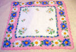 Lovely, Mint Never Used Pink Printed Cotton Hankie