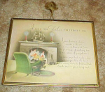 Vintage Framed Fathers Day Wish Picture