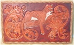 Vintage Western Hand Tooled Leather Cougar Picture