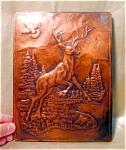 Petite Copper Embossed Buck Deer Picture