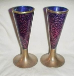 Set Of 2, Retro Modern Cobalt Vases.